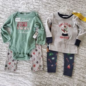 NEW Old Navy Christmas PJs 2 sets sz 18-24 mo